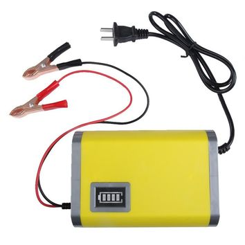 Portable Intelligent Motorcycle Car Auto Battery Charger 12V 6A HQ Adapter Power Supply Input 110V to 220V With EU US UK AU plug