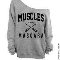 Muscles and Mascara - Gray Slouchy Oversized Sweatshirt