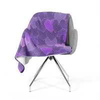 Julia Grifol Violet Crazy Love Purple Pattern Geometric Vector Digital Fleece Throw Blanket
