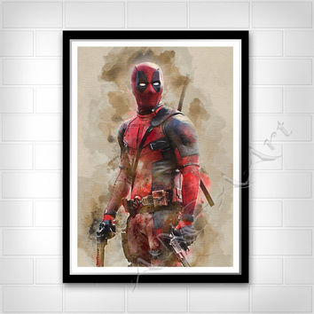 Deadpool, Deadpool poster, Instant Download, Deadpool print, Deadpool teen room, Superhero poster, Superhero print, Printable teen poster