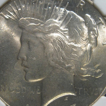 1925 NGC MS 63 Peace Dollar, Silver Dollar Coin, Collectible Coin, Uncirculated Coin, UNC Silver Coin,1925 Vintage Silver Coin, Silver Coin