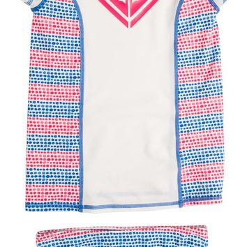 ROXY TODDLER ALL MIXED UP RASHGUARD SET