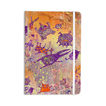 "Marianna Tankelevich ""Levitating Monsters"" Orange Purple Everything Notebook"