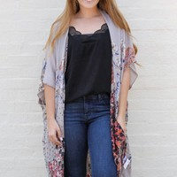 All I Need is Time Floral Kimono