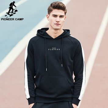 Pioneer Camp 2018 new Spring hoodie sweatshirt men brand clothing fashion male hoodies top quality casual tracksuits AWY702022