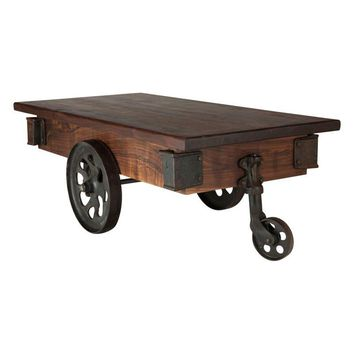 Pre-owned The Foundry Factory Cart Coffee Table
