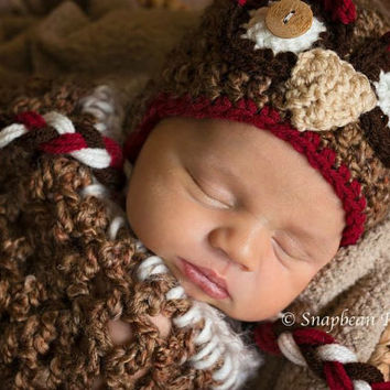Owl Hat, Blanket, Photography Prop, Photo Prop, Red and Brown Owl, Country Owl, Crochet Blanket, Baby, Owl, Hat, Owl Hat, Baby Owl Hat