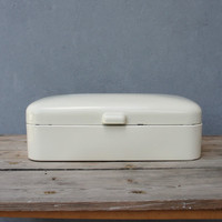 Vintage Mid century Bread Box Tin Made in Holland 1950's Kitchen Decor