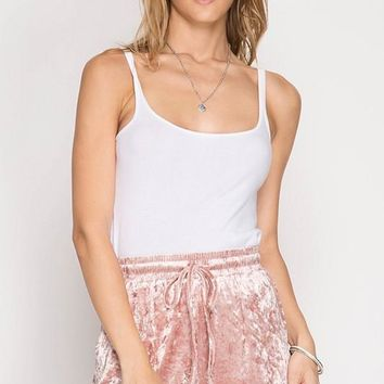 Sweetest Thing Velvet Shorts