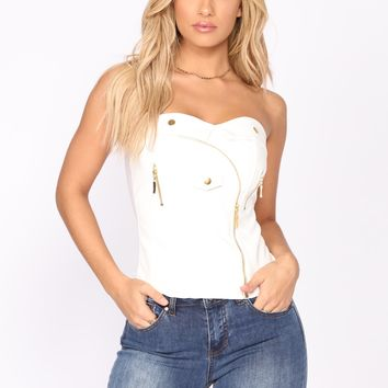 Moto Made Top - White