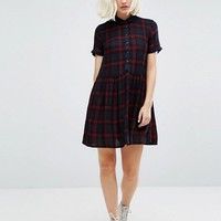Superdry Collared Plaid Skater Dress at asos.com