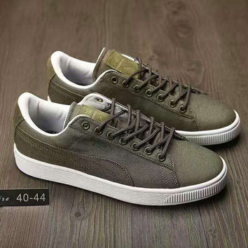 Fashion PUMA Man Cowboy Casual Running Sport Shoes Sneakers army green G-AHXF  QF