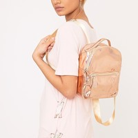Lacie Rose Gold Holographic Backpack