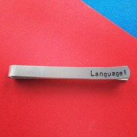 Language! Captain America Men's Tie Bar Marvel Inspired Handmade from SHOW PONY
