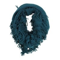 Modadorn Cozy Fringe Snood Netting Scarf Women's Fashion, Clothing & Accessories