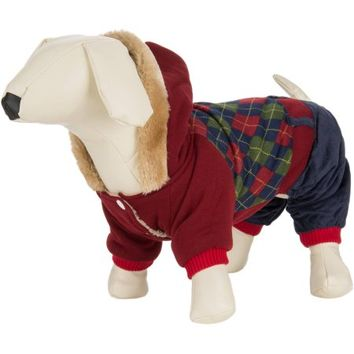 CUECUEPET Hoodie Cotton Jacket for Small to Medium Sized Dogs, Red/Green Plaid - Walmart.com