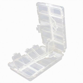 LumiParty Portable Plastic Transparent Folding Fishing Lures Hook Bait Storage Box Case Container