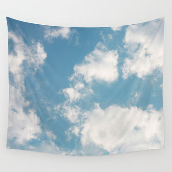 Clouds Wall Tapestry by rebekahjoan