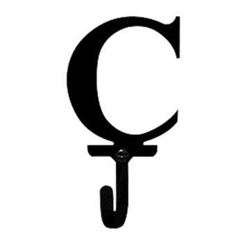 Wrought Iron Letter C Wall Hook Small