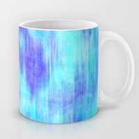 Ocean Blur - Abstract in Mint, Purple, & Royal Blue Mug by TigaTiga Artworks