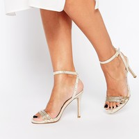 New Look Solder Embellished Heeled Sandals