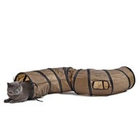 """S""Funny Pet Tunnel Cat Play Tunnel  Brown Foldable 1 Holes Cat Tunnel Kitten Cat Toy Bulk Cat Toys Rabbit Play Tunnel"