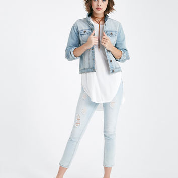 Soft Side-Slit Tunic Tee | Wet Seal