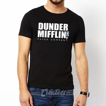 Customize Dunder Mifflin t shirt Unisex cheap graphic tees size S-5XL