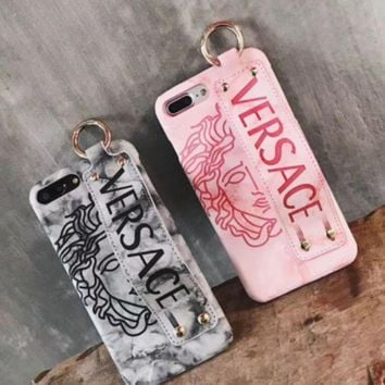 ac NOVQ2A Versace iphone7plus iphone7plus hand shell 6s marble bracelet with protective shell of iphonex leather
