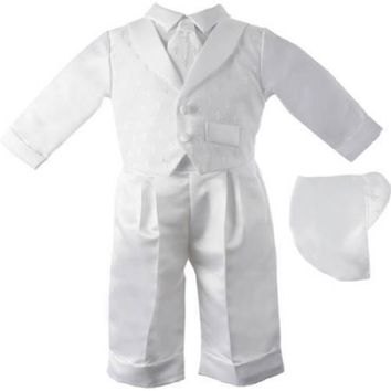 Christening Baptism Newborn Baby Boy Special Occasion 3 Pc, 6-9Months
