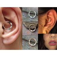 Silver, Gold or Rose Gold Daith, Tragus, Septum or Rook Hoop
