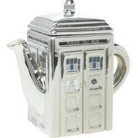 Doctor Who 50th Anniversary Chrome TARDIS Teapot