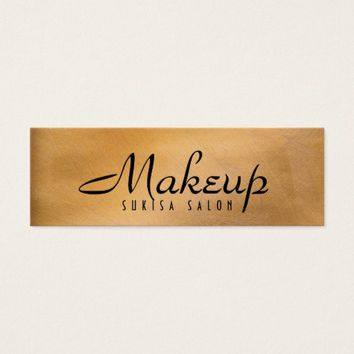 Makeup Artist Shiny Copper Skinny Business Cards