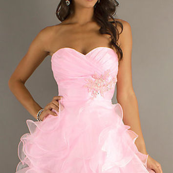 Short Strapless Prom Dress by Alyce