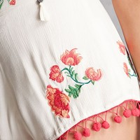 Z&L Floral Embroidered Shorts