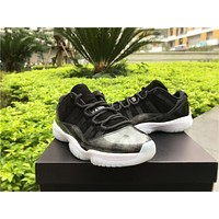 Nike Air Jordan 11 Retro Low Barons Black White Silver Basketball Sneaker AJ11 528895 010