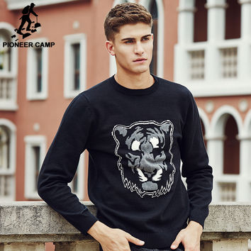 Sweaters men New arrival high Quality clothing Tiger pattern Famous casual Pullovers Sweater