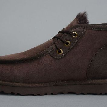 ESBON UGG 5866 Tall Beckham Men Fashion Casual Wool Winter Snow Boots Chocolate