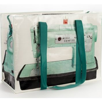 Sewing Machine Shoulder Tote - Made of 95% Recycled Post-Consumer Material