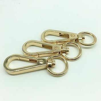 EDC Bag Parts Gold Metal Buckle Hook Alloy Bag Buckle Snap Clasp Hanger Lobster Clasp Bags Handle Connecting Button