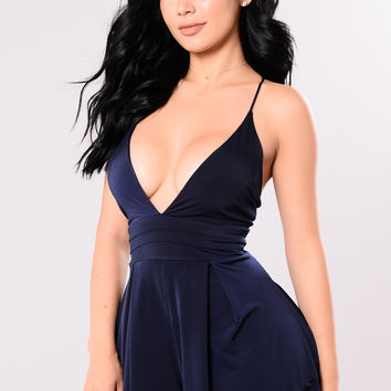 Ego In Charge Romper - Navy
