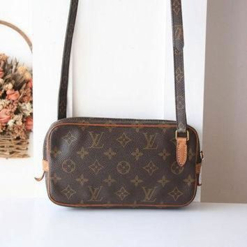 PEAPYD9 Louis Vuitton Bag Monogram POCHETTE MARLY BANDOULIERE Cross Shoulder Vintage Authentic