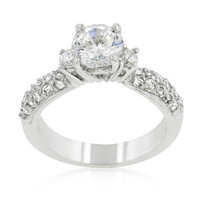 Classic Pave Bridal Ring, size : 08