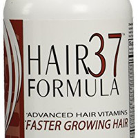 Hair Formula 37 Advanced - 60 Vegetarian Capsules / 1 Month Supply Fast Hair Growth Vitamins Healthy New Look Faster Shipping Is Quick Skin and Nails Too