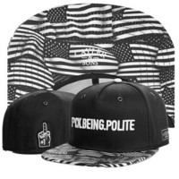 Cayler & Sons A$AP Rocky F*ck Being Polite American Flag Design Black Hip Hop Baseball Cap Snapback Hat