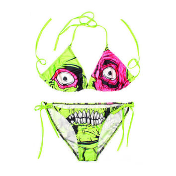 Monster printed bikini