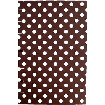 """Brown Polka Dot - Coptic Journal - A5 5x8 Graph / Quad - Bullet Journal - Planner - Coptic Bullet Journal 5"""" x 8"""" - 192 sheets 384 pages"""