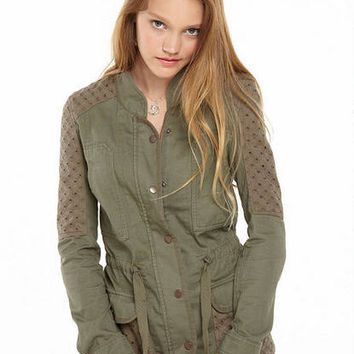 Anorak Eyelet Military Jacket