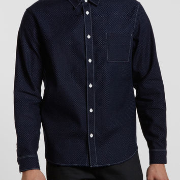 Levi's Made and Crafted Classic Shirt - Indigo Polka Dot