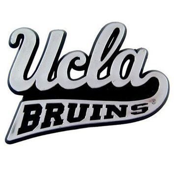 UCLA Bruins Chrome Auto Emblem Decal Football
